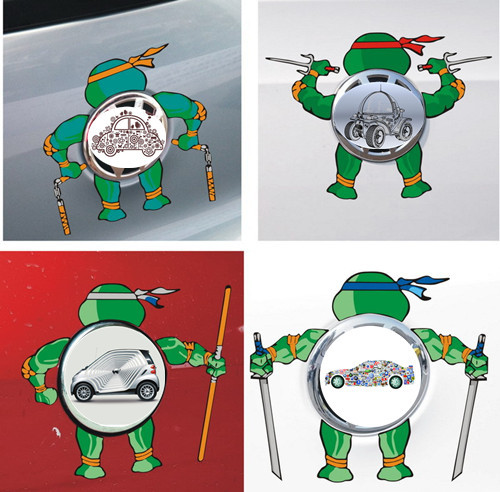 Car Stickers Teenage Mutant Ninja Turtles Decorative For Cars Logo Colorful Decals Waterproof Cartoon For VW 20%