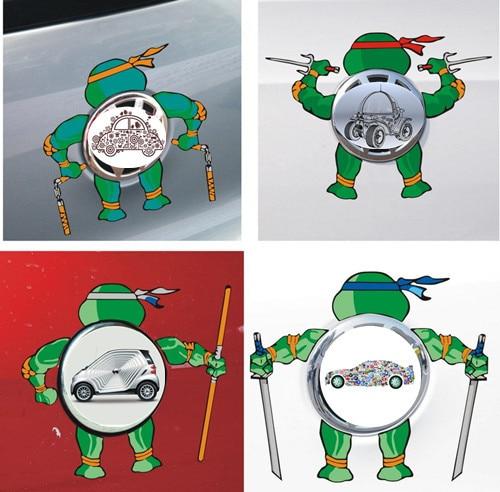 Car Stickers Teenage Mutant Ninja Turtles Decorative For Cars Logo Colorful Decals Waterproof Cartoon For VW 20%