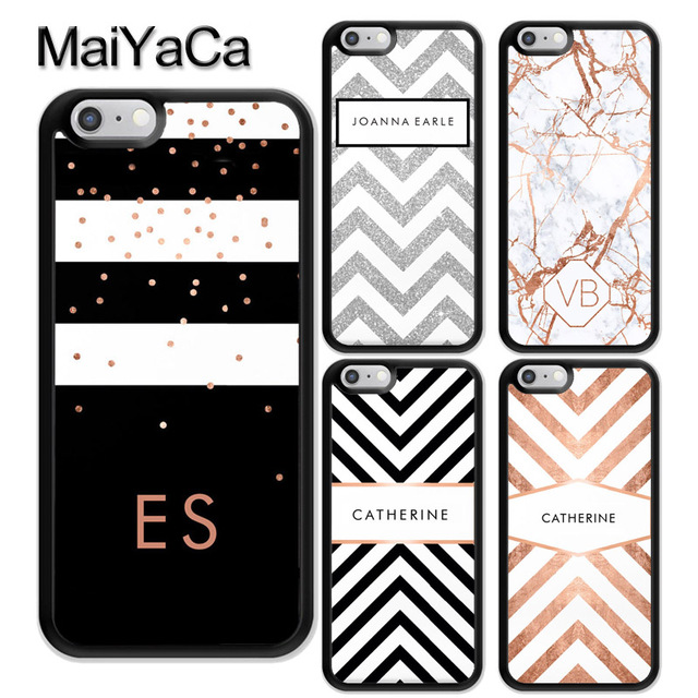 a1242736a86 MaiYaCa PERSONALISED CUSTOM NAME MONOGRAM LETTER INITIALS Soft TPU Case For iPhone  6 6S 7 8 Plus X XR XS MAX 5S Back Shell Cover