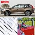 TOMMIA полнооконный средний столб формовочный порог хромированная Накладка для стайлинга полосок из нержавеющей стали для Volvo XC60 2011-2015