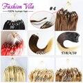 6А Micro Loop Кольцо Наращивание Волос Бразильский Виргинский Волосы Прямые 100 г Виргинских Бразильских Волос Выдвижение Человеческих Волос клубок бесплатно