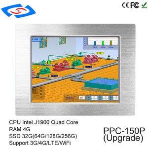 """Image 3 - Fabrika Doğrudan 15 """"Intel Celeron J1900 Dört Çekirdekli Fansız Endüstriyel Panel PC Ile Çok seri Port Için filtreler Kontrol"""