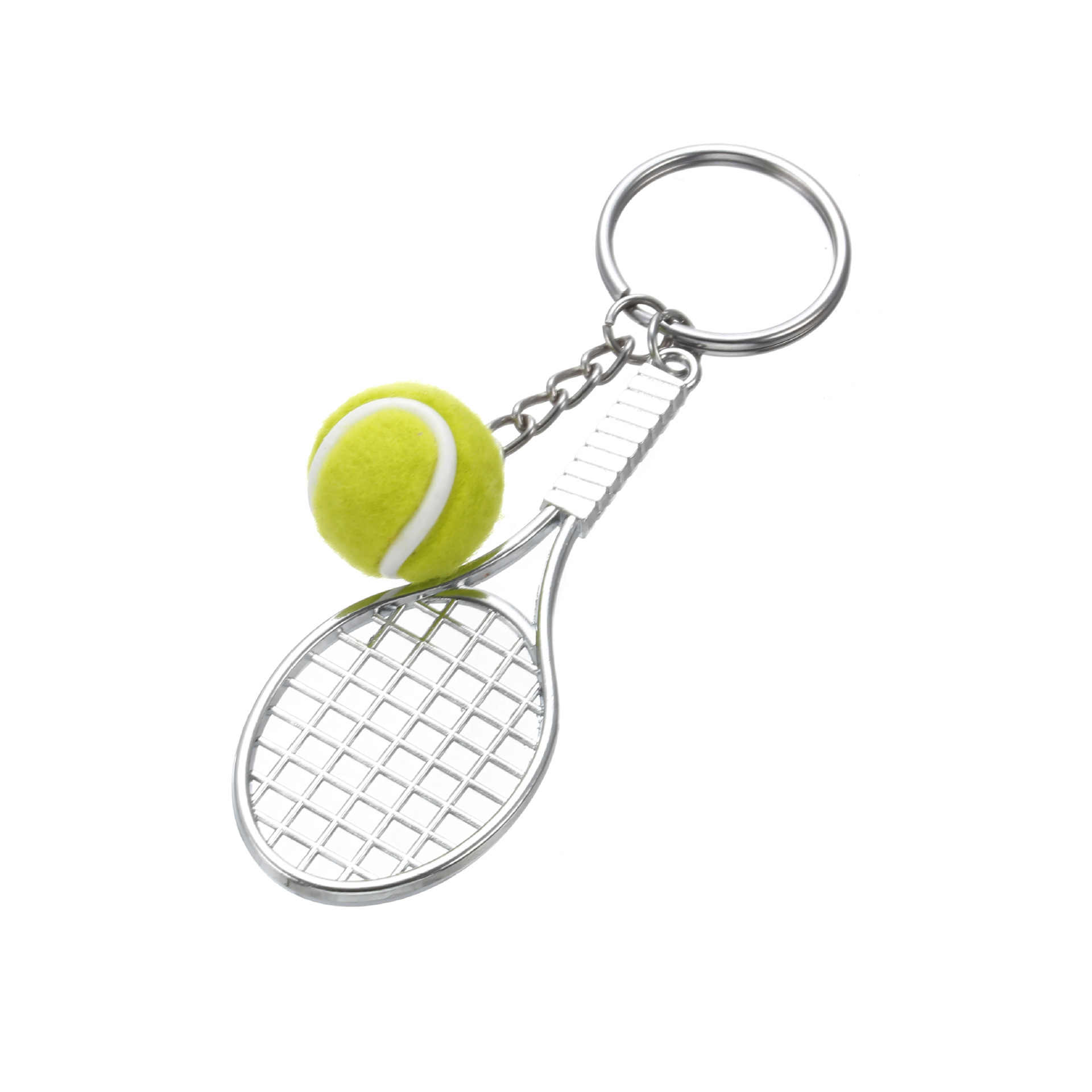Mini Tennis Cute Keychain Bag Charm Pendant Ball Ornaments Women Men Kids Key Ring Sports Fans Souvenir Birthday Gift Wholesale