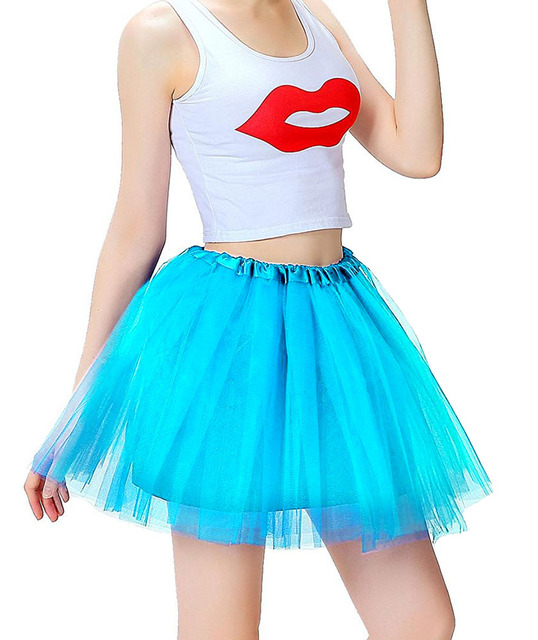 Mother and daughter Skirt Rainbow Tulle Skirt Carnival Petticoat Mesh Mini Tutu Skirts Candy Color Kinderfasching Faschingsparty 2