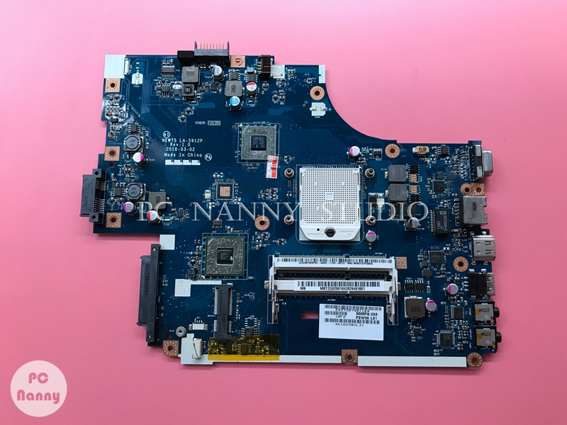 PCNANNY For Acer 5542 5542G Motherboard S1 DDR3 MBTZG02001 NEW75 LA-5912P MB.TZG02.001 + Free CPU No Video Card