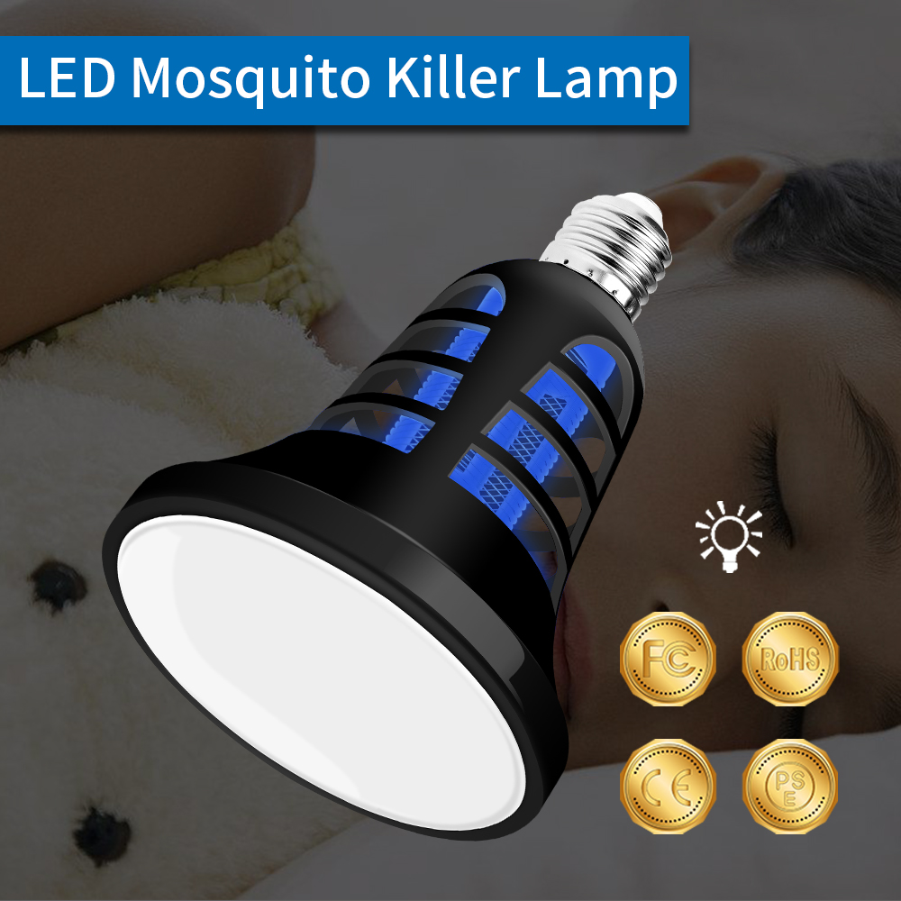 E27 Anti Insect Lamp 220V Elektrische Mug Killer Mosquito Trap USB LED Bulb 5V Bug Outdoor Zapper Light 110V