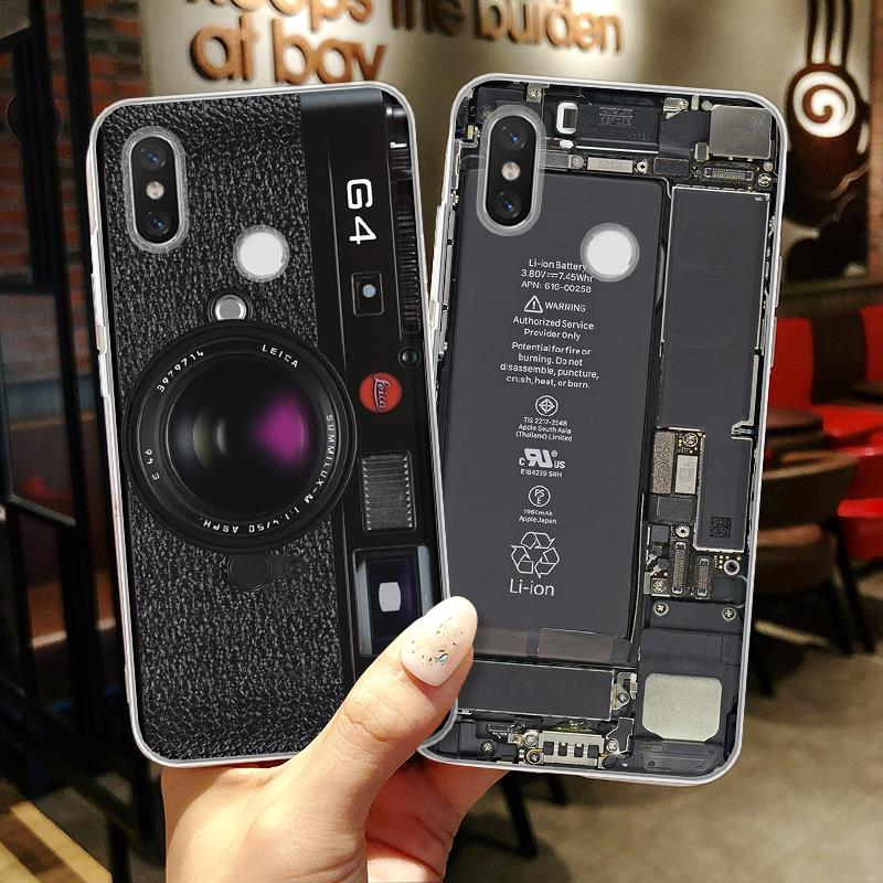 3D CD Camera Phone Case For Xiaomi Redmi Note 5A 3 4 4X 3 4 4A 5 Plus 6Pro 6A Mi A1 A2 5X 6X Cover For Redmi Note 5 Pro TPU Capa