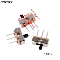 OOTDTY 10 Pcs 2 Position On/Off SPDT 1P2T 3 Pin PCB Panel Mini Vertical Slide Switch SS12D00G3 Electrical Equipment & Supplies