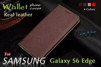 Luxus Flip brieftasche Buch stil Slot Abdeckung Fall Für Samsung Galaxy S6 Rand G925 Echtem Leder Handytasche Fällen Freies geschenk
