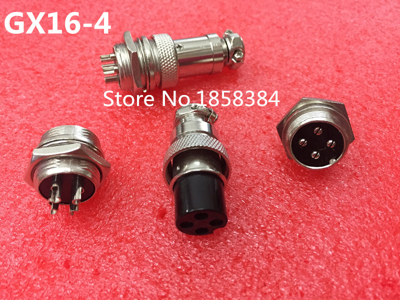 50Pair 100Pcs GX16 GX16 4 4P 4Pin 16mm Male Female Wire Panel Connector Circular Aviation Connector