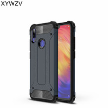Xiaomi Redmi Note 7 Case Shockproof Armor Rubber Hard PC Phone For Back Cover Shell