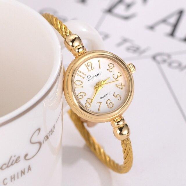 Lvpai Women Bracelet Watch Luxury Ladies Silver Wristwatch Top Brand Stainless S