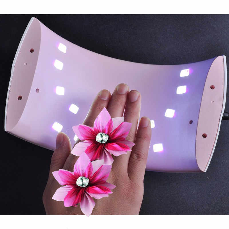 I'M GIRL SUN 9S 24W UV LED Lamp For Nail Gel Varnish 365+450nm Smart Nail Lmap Nail Dryer Ice Nagel Lamp Manucue 110-240V