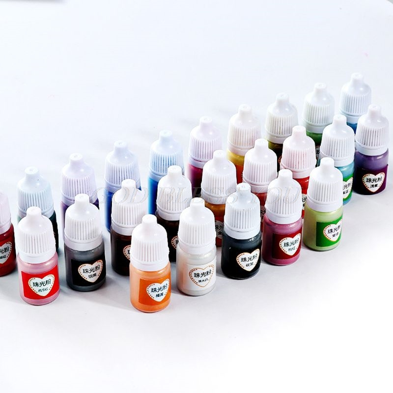 12 Color 5ml Slime Dye Powder Mica Pearl Pigments Colorants For Soap Candle Resin Jewelry Handmade Soap Coloring Powder