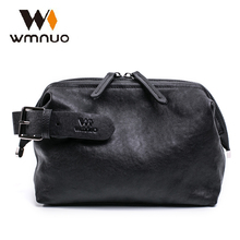 купить Wmnuo Men Hand Bags Genuine Leather Soft Sheepskin Men Clutch Wallet 2018 Fashion Men HandBag Casual Good Touch Phone Ipad Bag по цене 1946.88 рублей