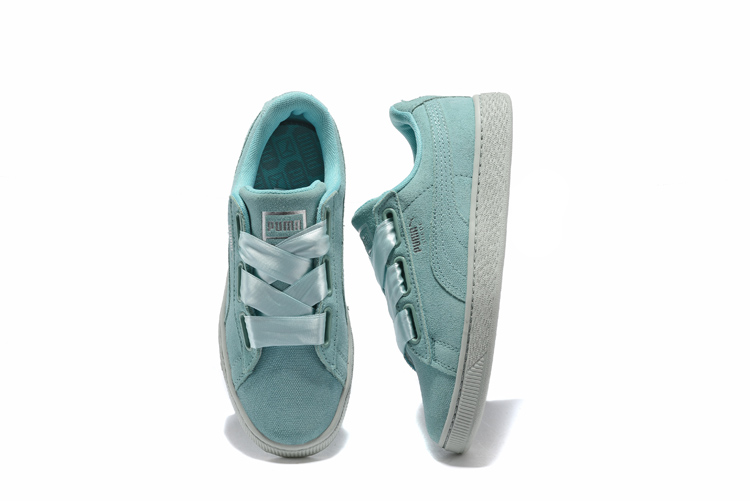 2018Original PUMA FENTY Suede Cleated Creeper Women s First Generation  Rihanna Classic Basket Suede Tone Simple Badminton Shoes 0eeefb1a1
