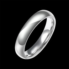Hot Glaze 316l Stainless Steel Ring Silver Color Titanium Steel Rings Jewelry Classic Wedding Engagement Female Finger Jewelry