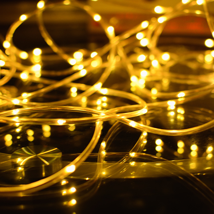Fashion Solar Copper Wire String Light LED Fairy Light Christmas Wedding Party Decoration Garland outdoor light string80412