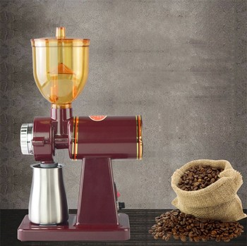 220V Home Electric High Speed Conical Burr Mill Espresso Coffee Bean Grinder Coarse/ Fine Grinding Machine
