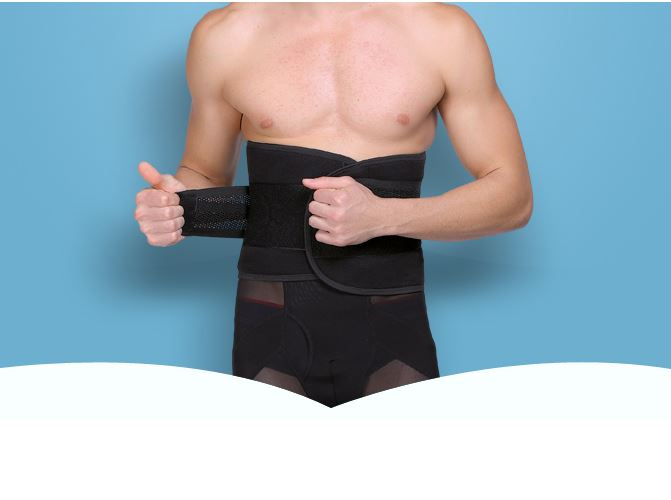 High Elastic Double Protection Lumbar Support Brace Back Belt Breathable Mesh Spinal Corrector Waist Support Belt Body shape