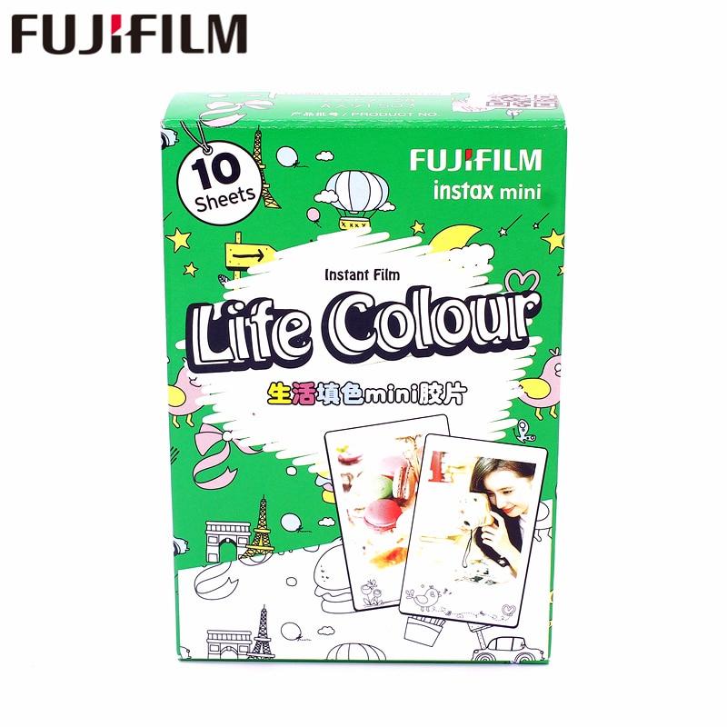 Original Fujifilm Fuji Instax Mini 8 Life cololr Film 10 Sheets For 7 8 9 50s 7s 90 25 Share SP-1 SP-2 Instant Cameras genuine 200pcs fuji fujifilm instax mini 8 film white edge for 8 7s 50s 90 25 instant cameras 2018 valid period