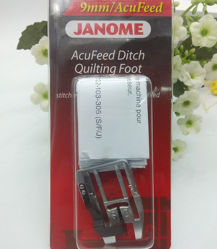 Janome AcuFeed Ditch Quilting Foot - 9mm Perfect For Patchwork NEW Snap On # 202-103-006