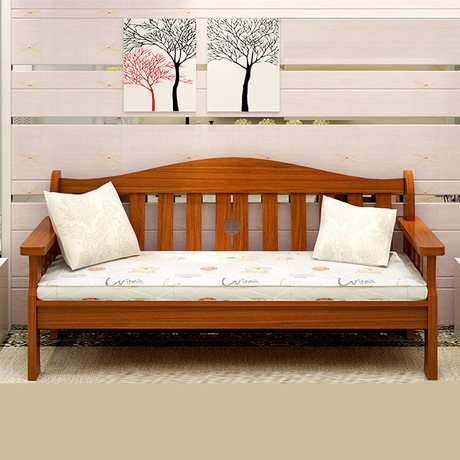 Living Room Sofas Bed Couches For Furniture Home Solid Wood Bench Lazy Sofa
