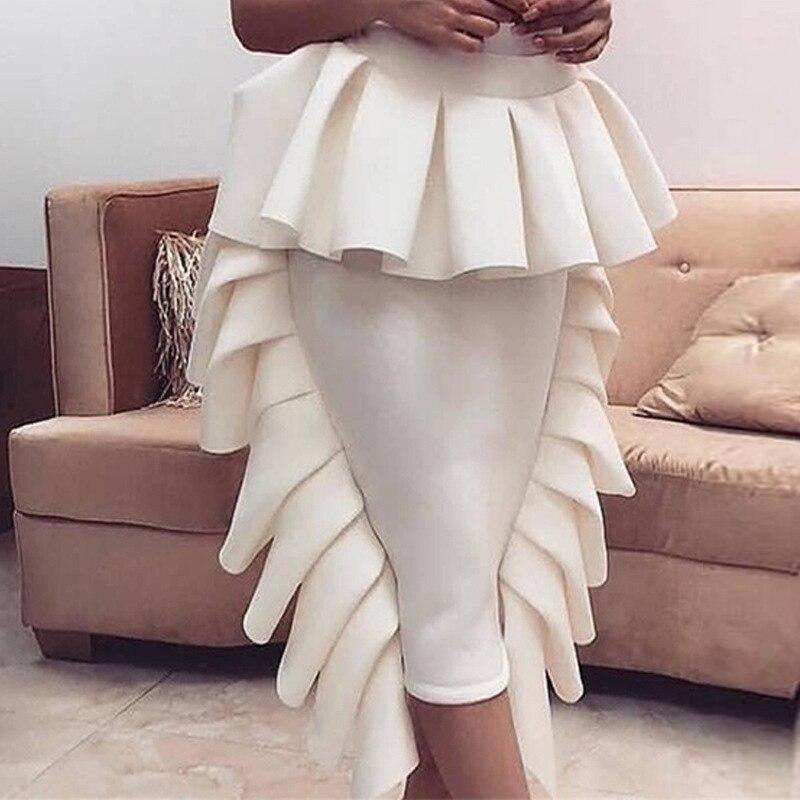 Haute qualité nouvelle mode piste 2018 Baroque Designer jupe femmes métal Lion boutons embelli Denim Mini jupe