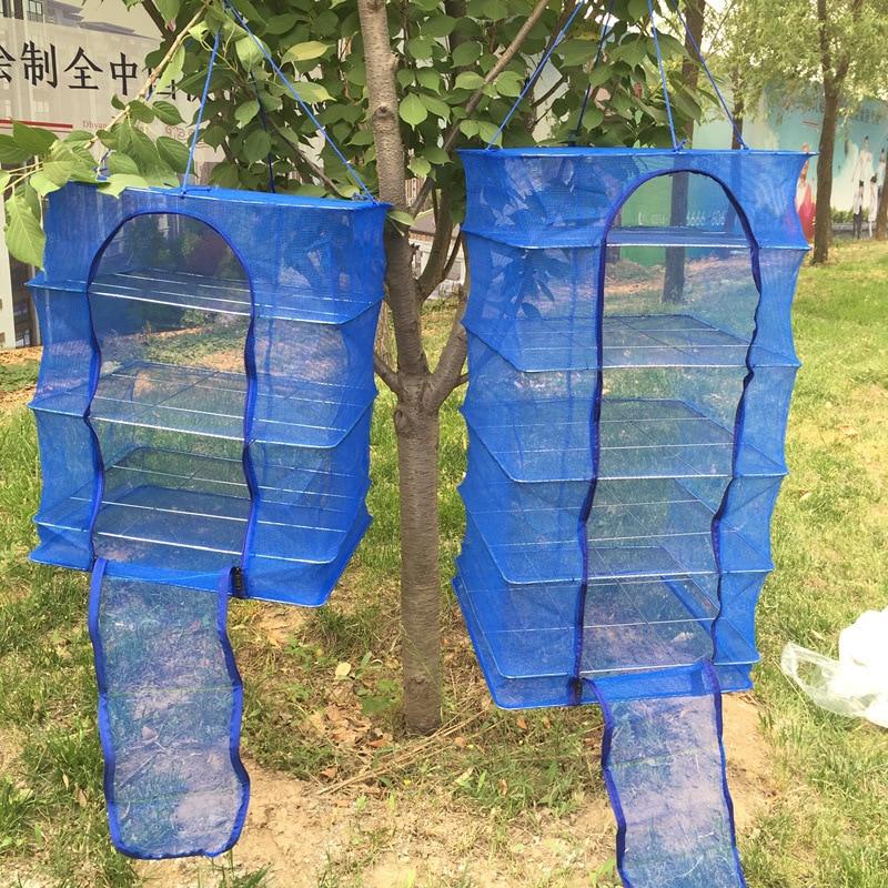 Foldable 5 Layers Drying Fish Net Small Mesh Steel Frame Hanging Vegetable Herb Fish Drying Net Hanger Rack Fishing Tools (2)