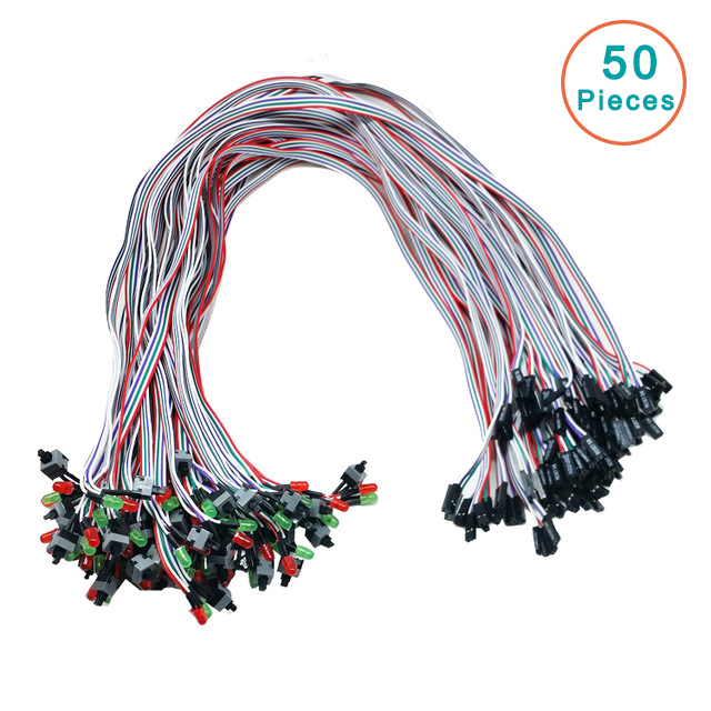 50pcs/lot Case Desktop ATX Power On Reset Switch Cable With HDD LED Light For PC Computer -R179 Drop Shipping 100pcs lot max706 max706csa max706esa sop 8 simple reset power on reset