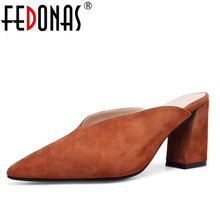الأزياء جلد الكعب أحذية