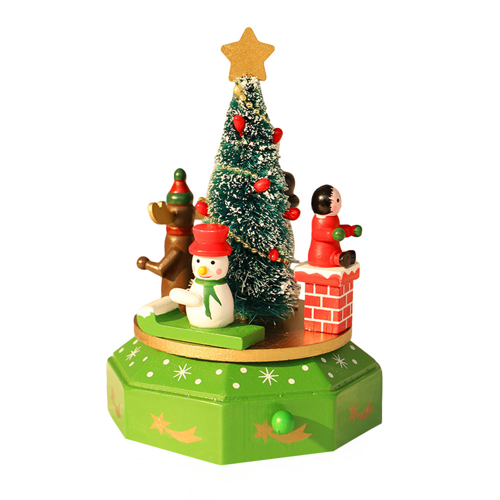 Top Christmas Gifts 2019 For Kids: 2019 New Christmas Wood Music Box Christmas Decoration