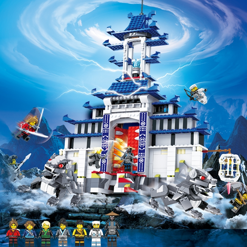 2017 Compatible LegoeINGly NinjagoINGlys Temple Figures With Weapon Ninja Sets Bricks Kai Jay Cole Zane Nya Lloyd Kids Toys Gift building blocks compatible with legoinglys ninjagoinglys sets ninja heroes kai jay cole zane nya lloyd weapons action toy figure