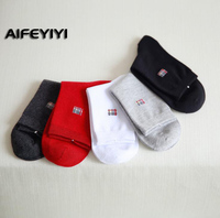Fashion high end business socks cotton anti odor men's cotton socks solid color men's socks