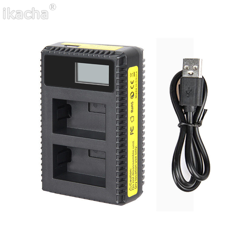 Chargers Lp-e5 Lcd Dual Port Usb Battery Charger For Canon Eos 1000d 500d 450d Kiss Consumer Electronics