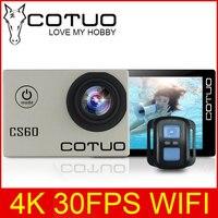 COTUO CS60 4 K 30fps WiFi מצלמה פעולת 16MP HD Ultra 170D 1080 P 720 P 120fps go 30 m עמיד למים pro 2.0