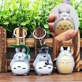 Cartoon Hayao Miyazaki Tonari no Totoro LED Keychain with Sound and Light PVC Key Ring Pendants Chaveiro Gift 5-5.5cm AK0057