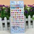 Envío gratis a todo color rhinestone Crystal Heart personalizados Crystal bricolaje Scrapbooking pegatinas