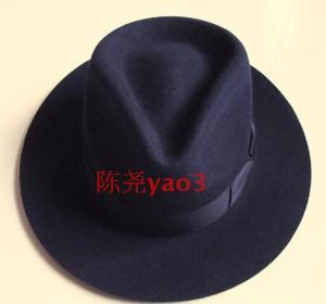 Image 4 - Wolle Fedora Hut Unisex Filz Fedoras Hüte Erwachsene Mode Trilby Hüte Beliebte Headwear Wolle Fedora Trilby Hüte Mann der Kappe B 8130