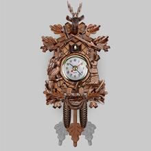 Креативные декоративные настенные часы с птицей, подвесные деревянные часы с огурцом, часы для гостиной, маятниковые часы, украшения, аксессуары