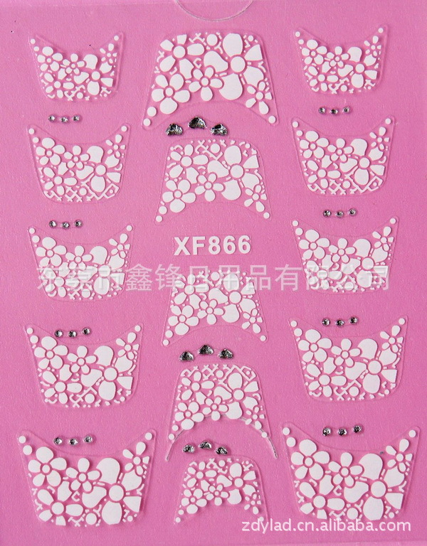 Water Transfer Nails Art Sticker Beautiful 3D French style Crystal design girl and women manicure tools Nail Wraps Decals XF866 chiaro торшер паула 411042804