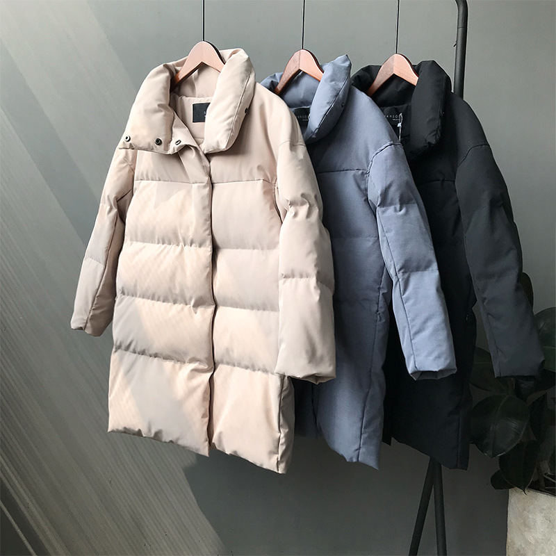 Autumn Winter Down Cotton Jacket Women   Parka   Coat Warm Thick Jacket Outerwear Casual Long Sleeve Padded Women Coats   Parkas   Q1009