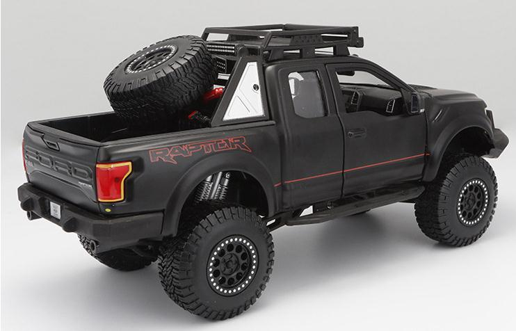 1:24 Advanced alloy pickup model, high simulation Ford F-150 Raptor modified pickup, metal cast, high quality collection model