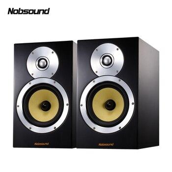 Nobsound DM5 Wood 120W 1 Pair 6.5 inches Bookshelf Speakers 2.0 HiFi Column Sound Home Professional speaker