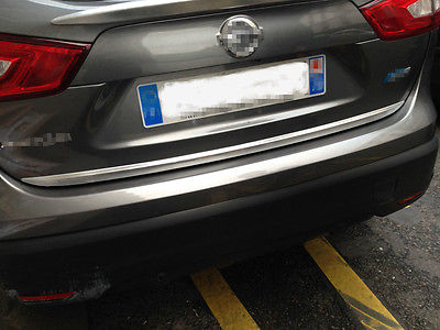 Garniture de couverture de Streamer de coffre de porte arrière de Chrome d'abs pour Nissan Qashqai 2014-2016 - 2