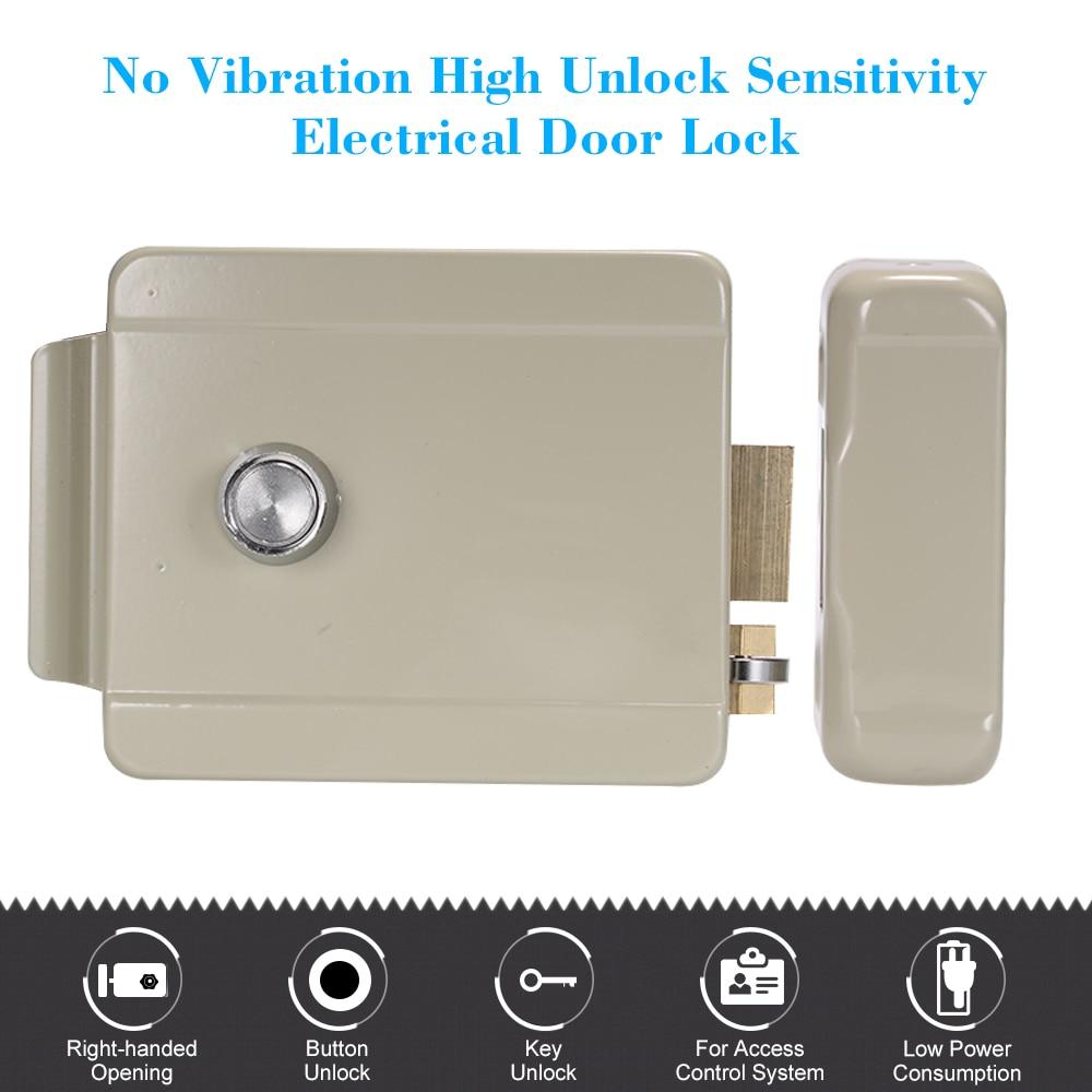 Electrical Door Lock Right-handed Opening Door Lock Door Security System Doorbell Intercom Locker Access Control Electric Lock