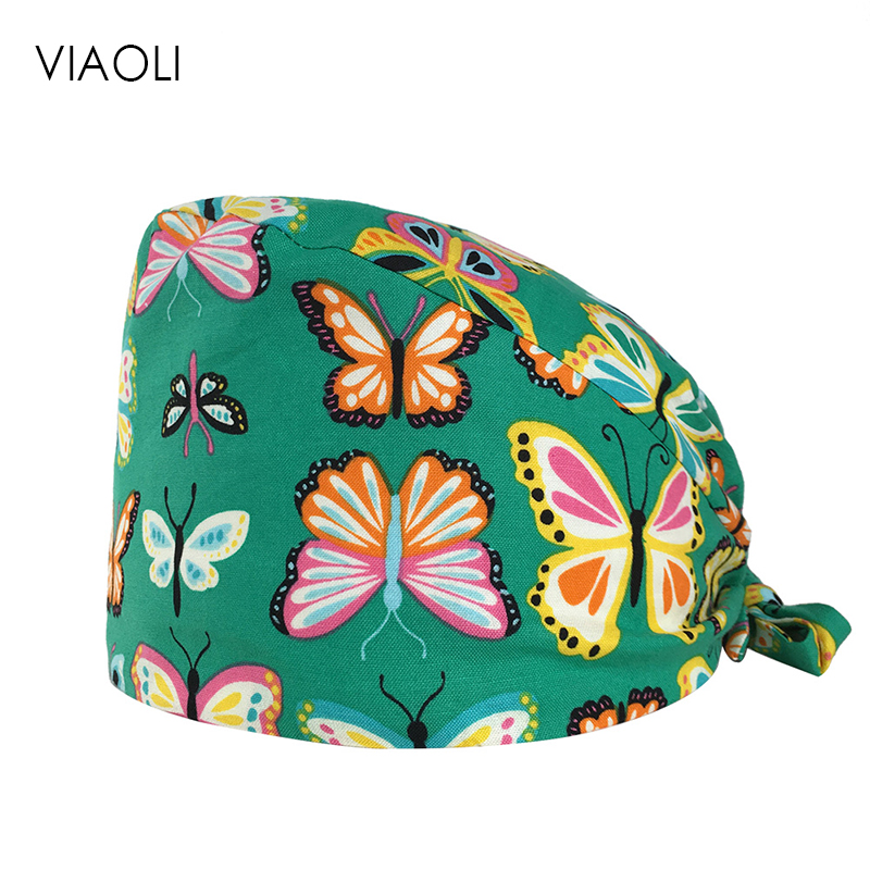 Unisex Medical Scrub Surgical Nurse Cap New Pet Doctor Hat Hospital Doctor Surgery Hat Dentist Veterinary Medical Accessories