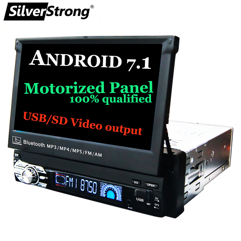 SilverStrong 1Din Android7.1 Universal 7inch Car DVD Auto Radio Android Car Stereo Universal multimedia by Kaier produces silverstrong 7inch android8 0 universal 2 din car dvd 4g internet sim modem car radio auto stereo gps kd7000