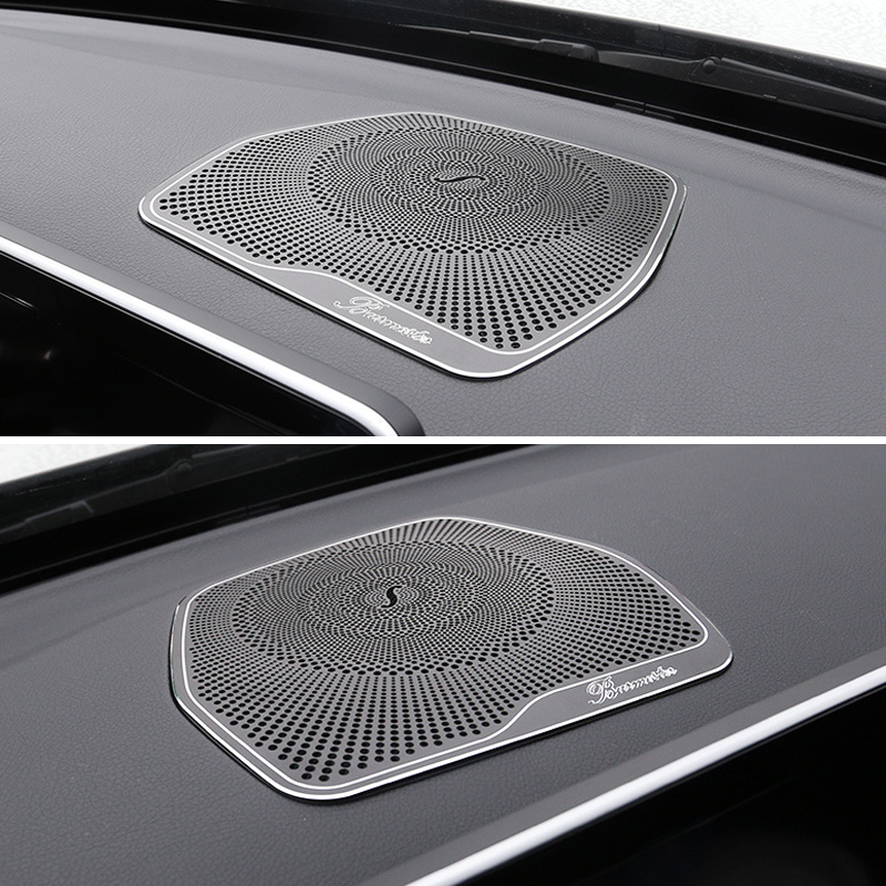 For Mercedes Benz W205 GLC C Class C180 C200 Car styling Audio Speaker Dashboard Loudspeaker Cover Stickers Trim Accessories LHD carbon fiber emblem car stickers b column door bumper sticker for mercedes benz c class w205 c180 c200 c300 glc car styling