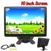10 inch HD 1080P Monitor 1920x1080 IPS Screen HDMI LCD Monitors Case for Raspberry Pi for PS3 4 for 360 One for Mac mini